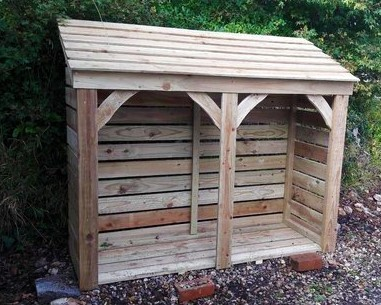 Extra Large Log Store- 1800mm / 6' log store with timber roof
