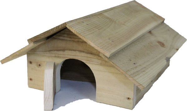 "Hedgehog House with timber roof and ""room divider"""