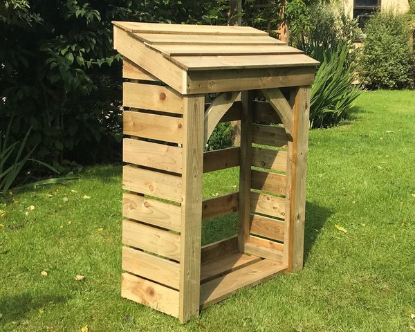 Handy Store - 900mm / 3' log store with timber roof